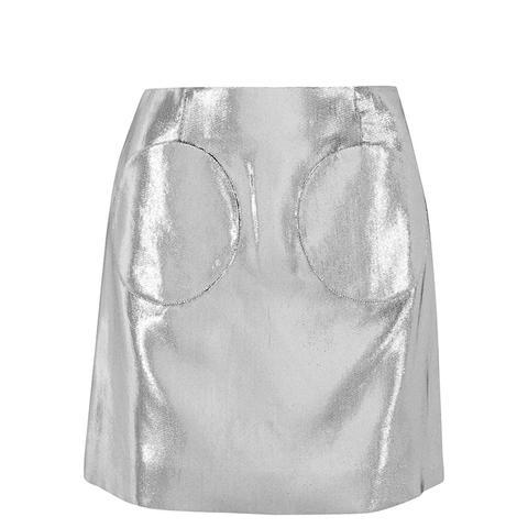 Lamé Mini Skirt