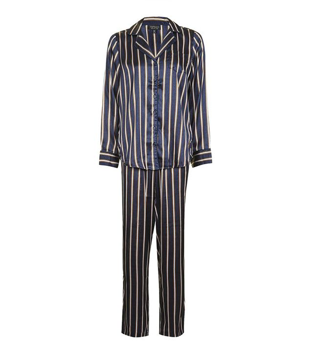 Topshop Satin Stripe Pajama Set