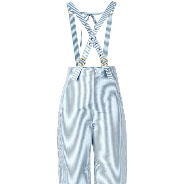 stripe trousers with braces