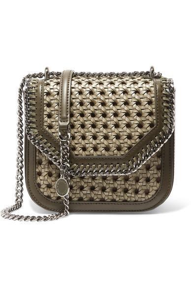 The Falabella Box Mini Woven Faux Leather Shoulder Bag