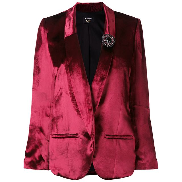 jewelled brooch blazer