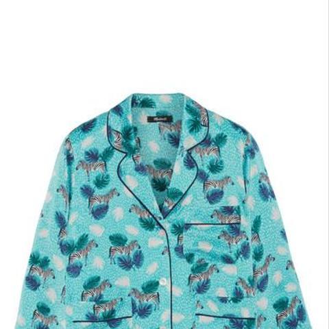 Patterned Satin Shirt
