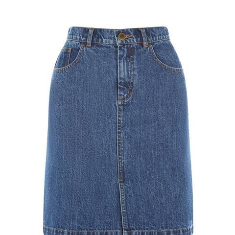 Denim Split Skirt