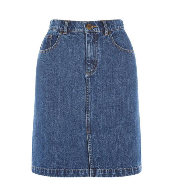 Best denim skirts: Warehouse split skirt