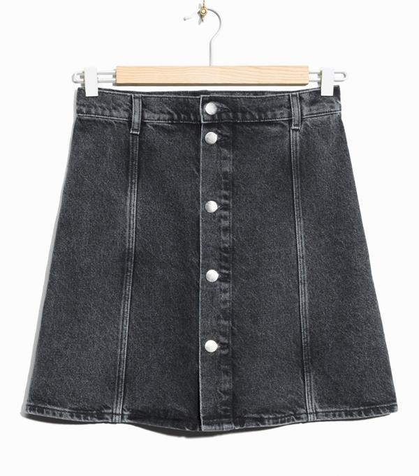 Best denim skirts: & Other Stories Button-Down Denim Skirt