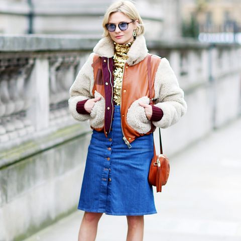 Best denim skirts: The Classic Button-Down