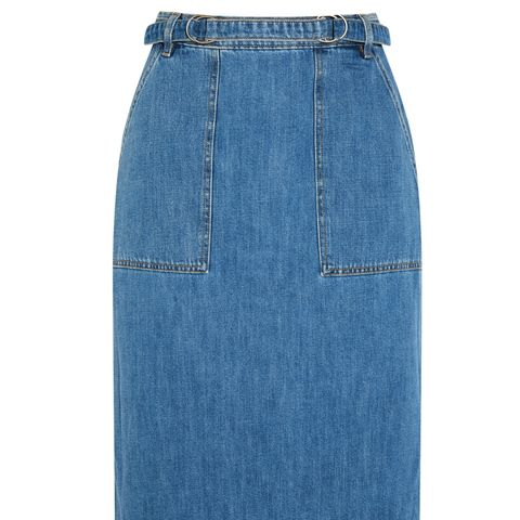 Juno Belted Denim Skirt