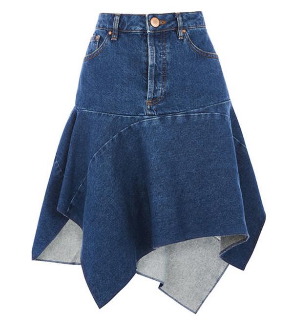 Best Denim Skirts: Warehouse Cut Out Asymmetric Skirt