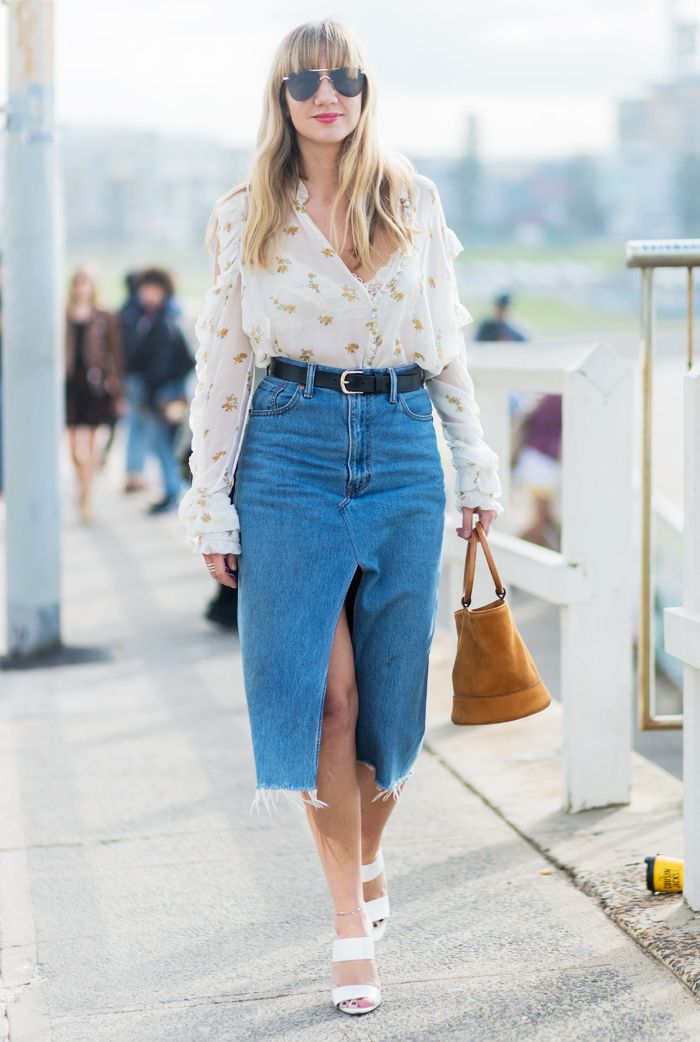Best denim skirts: the pencil skirt
