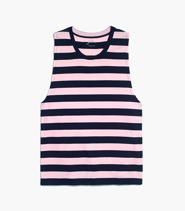 J.Crew Striped Muscle Tank Top