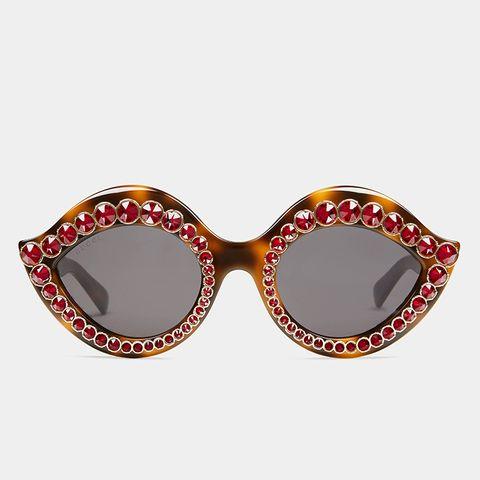 Cat Eye Sunglasses With Crystals
