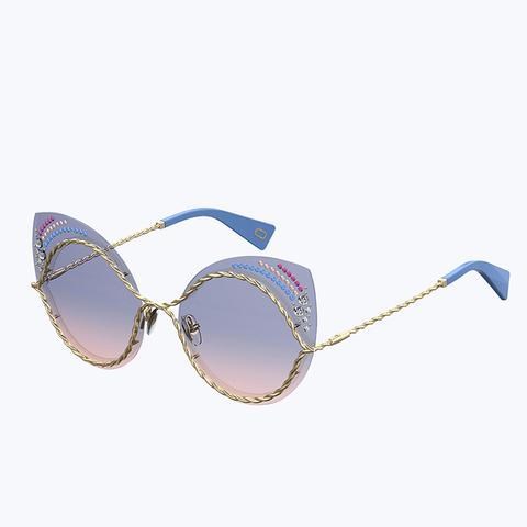 Metal Twist Sunglasses