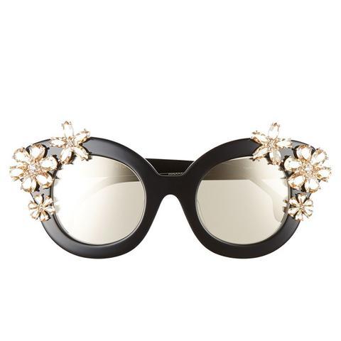 Madison Floral 46mm Gradient Lens Embellished Sunglasses
