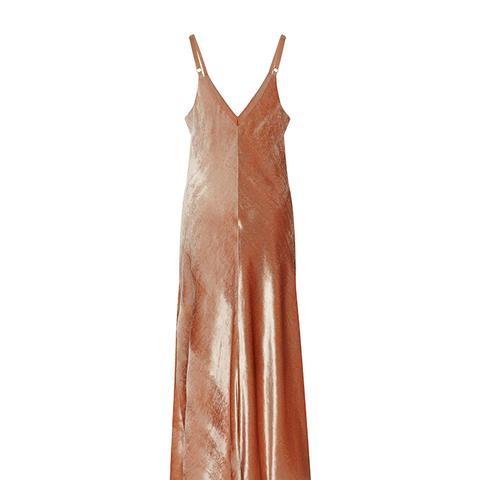 Annex Velvet Slip Dress