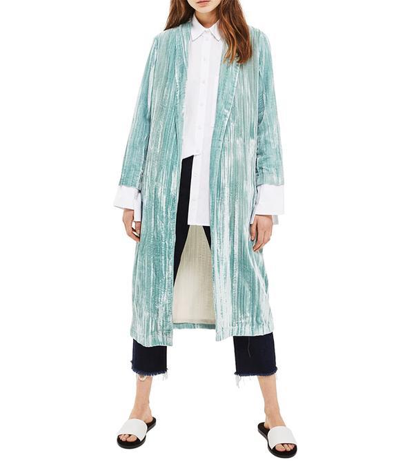 Velvet Duster Coat