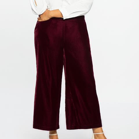 Studio Cropped Velvet Pants