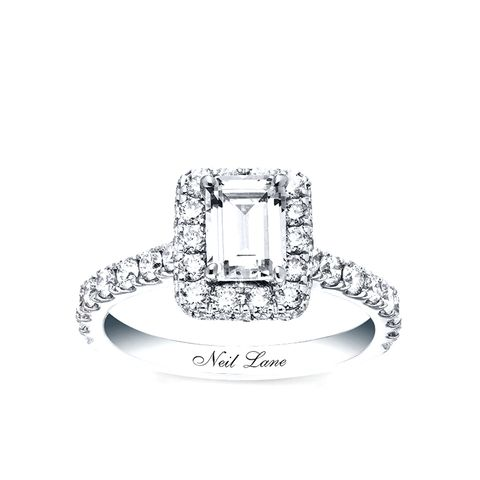 Engagement Ring 2-ct. Diamonds 14K White Gold