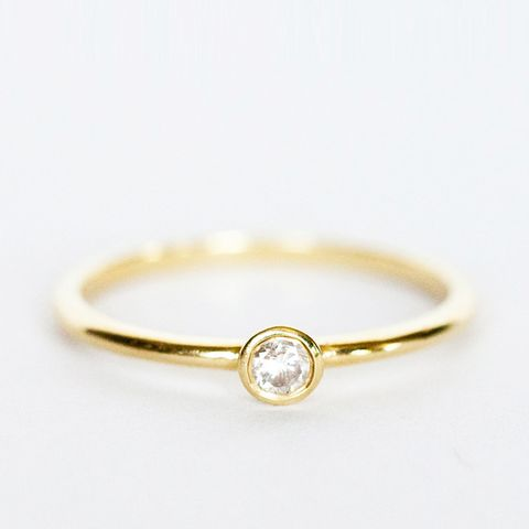 Diamond Thin Stack Ring