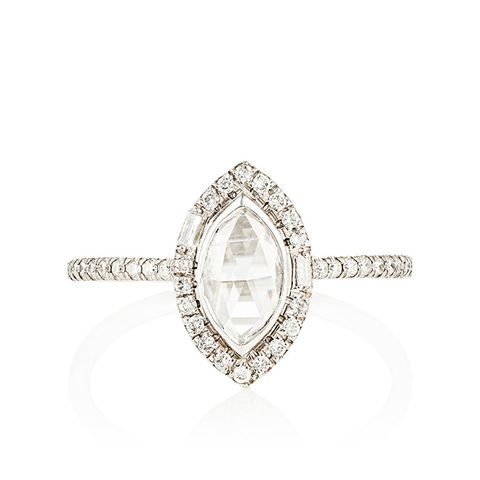 Multi-Shaped White Diamond Ring