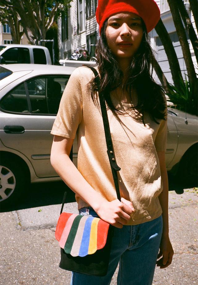Liz Claiborne Knit Sparkle T-Shirt in Gold