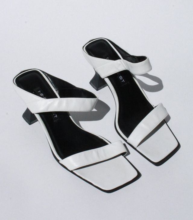 Nine West Leather Strap Sandals in White