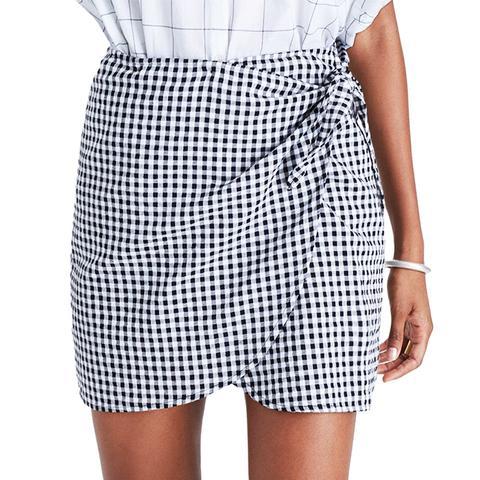 Ginham Wrap Miniskirt