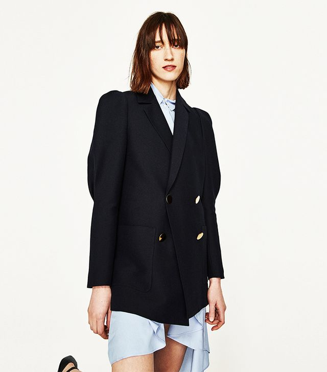 Zara Full Sleeve Double Breasted Jacket