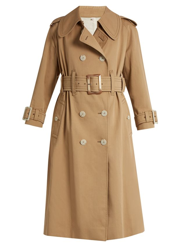 Alexa Chung Belted Double-Breasted Trench Coat