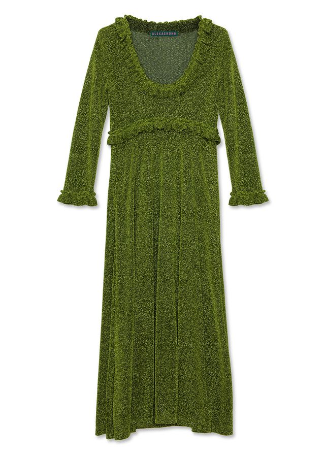 Alexa Chung Frill Trim Dress
