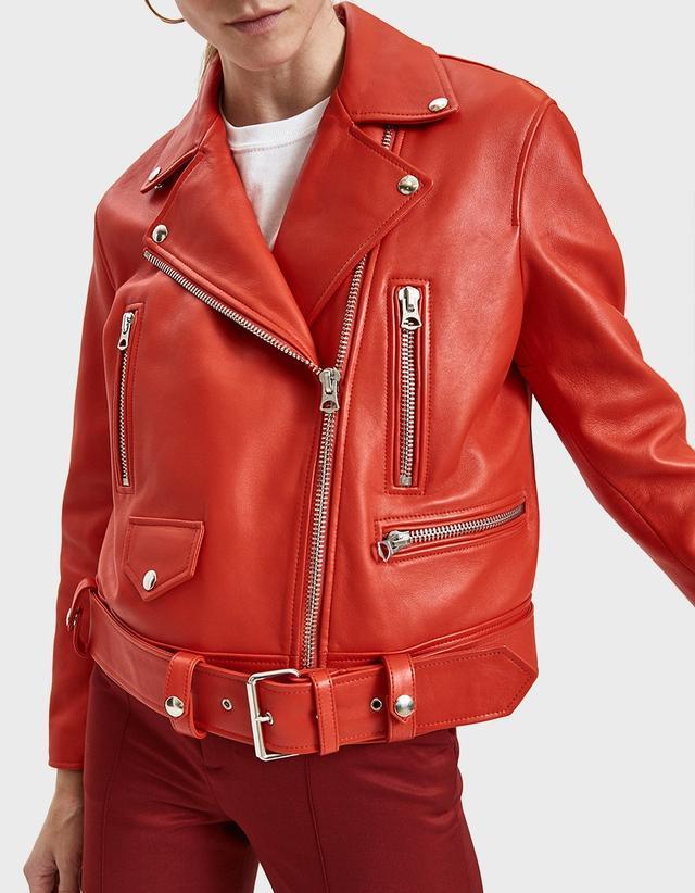Acne Studios Merlyn Leather Biker Jacket