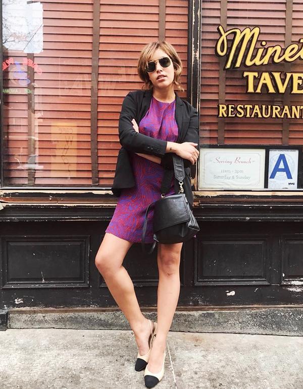 Christina Caradona in Chanel heels