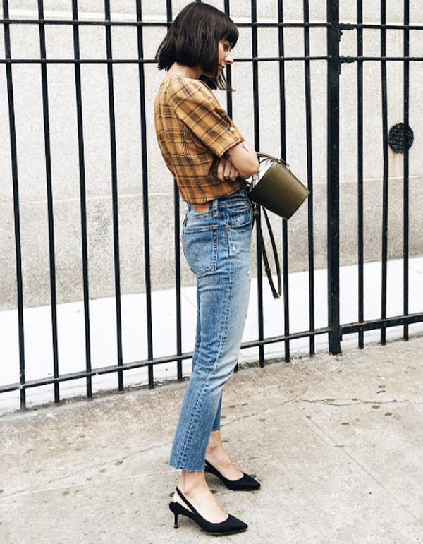 Alyssa Coscarelli in jeans and heels