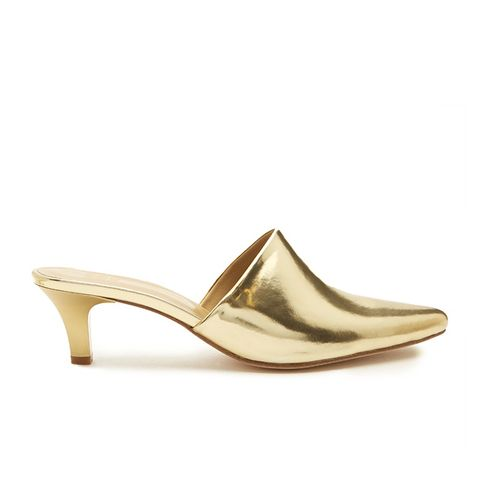 Andrea Point-Toe Leather Mules