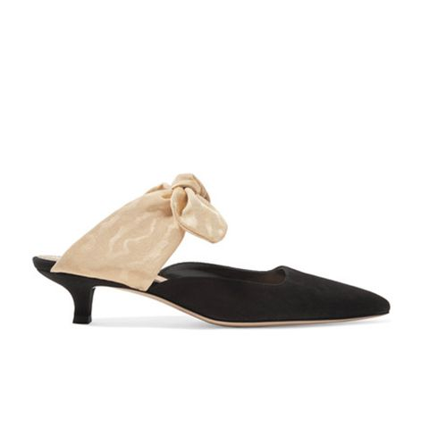 Coco Suede and Moire Pumps