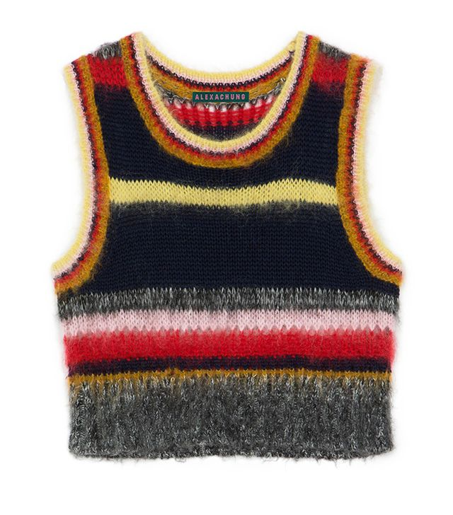 Alexa Chung Stripy Mohair Vest