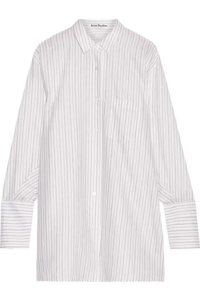 Bai Oversized Striped Cotton Shirt
