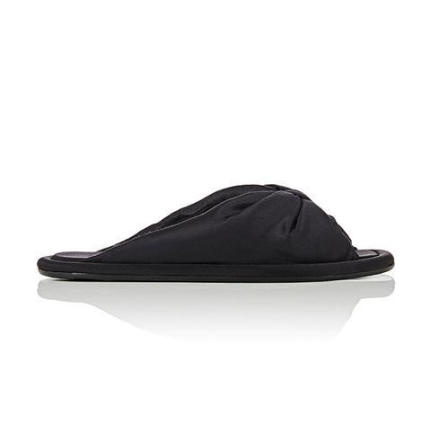 Women's Silk Satin Flat Sandals