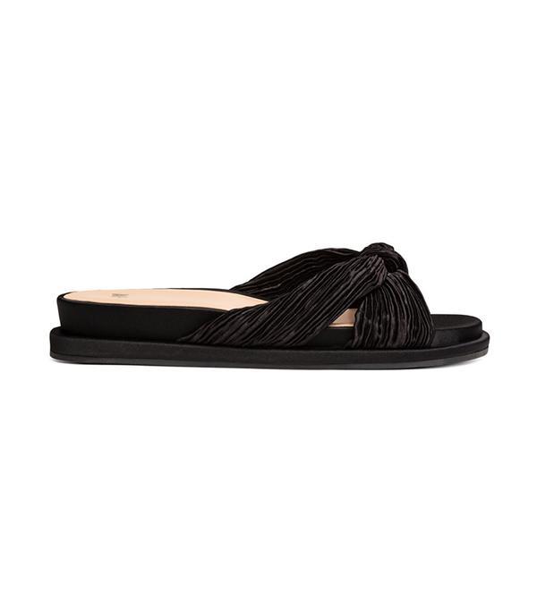 Satin Slip-in Sandals