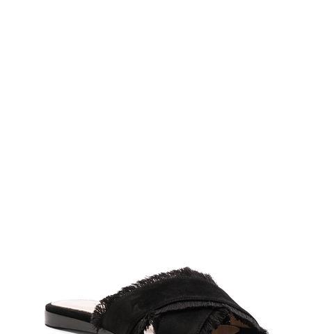 Suede & Satin Barth Flat Sandals