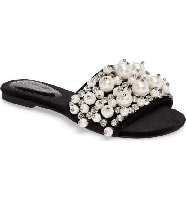 Facil Embellished Slide Sandal