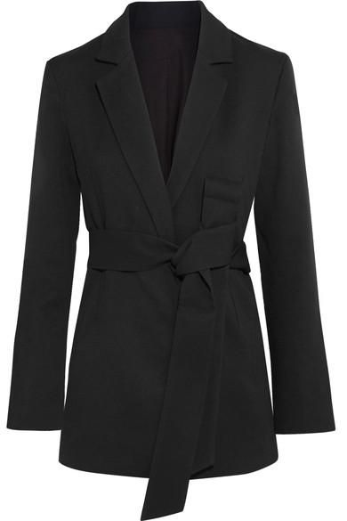 Stary Belted Crepe Blazer
