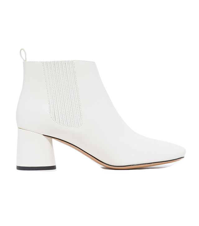best white ankle boots
