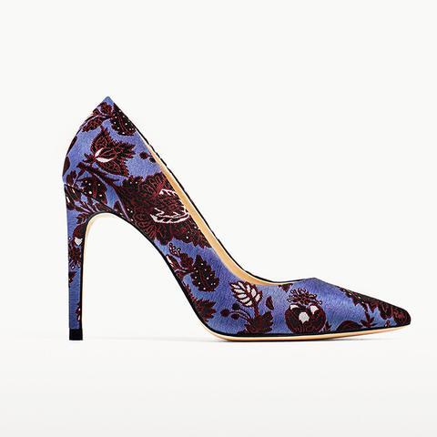 High Heel Jacquard Court Shoes