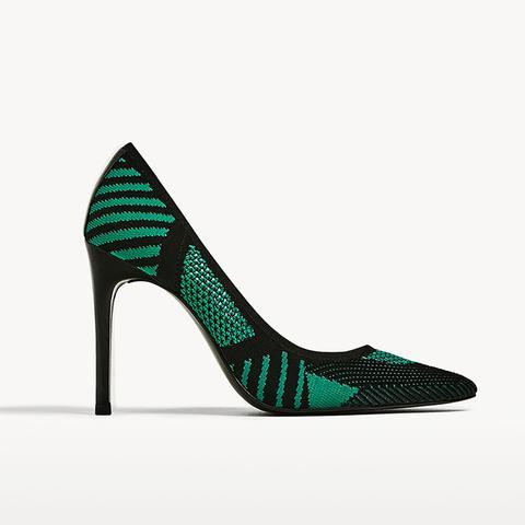 Fabric High Heels