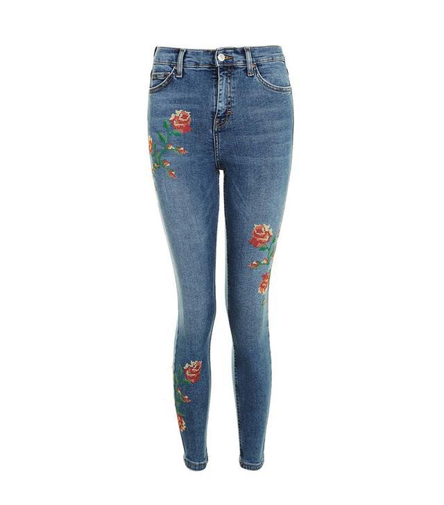 Jamie Embroidered Skinny Jeans