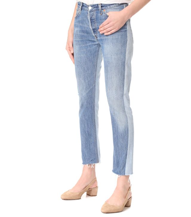 x Levi's Relaxed Two Tone Crop Jeans