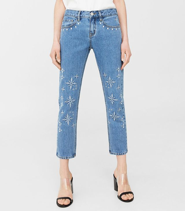 Embroidered Relaxed Jeans