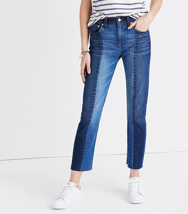 Madewell Cruiser Straight Crop Jeans: Two-Tone Edition