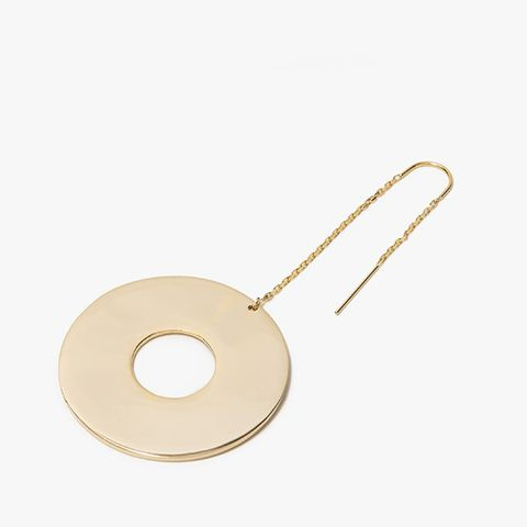 Large Donut Dangler Single Earring in Gold Vermeil