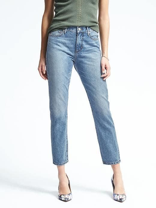 White Oak High Rise Light Wash Vintage Straight Jean